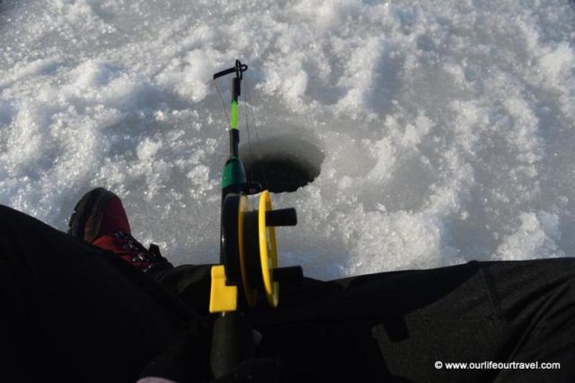 Ice-fishing on Pielinen lake