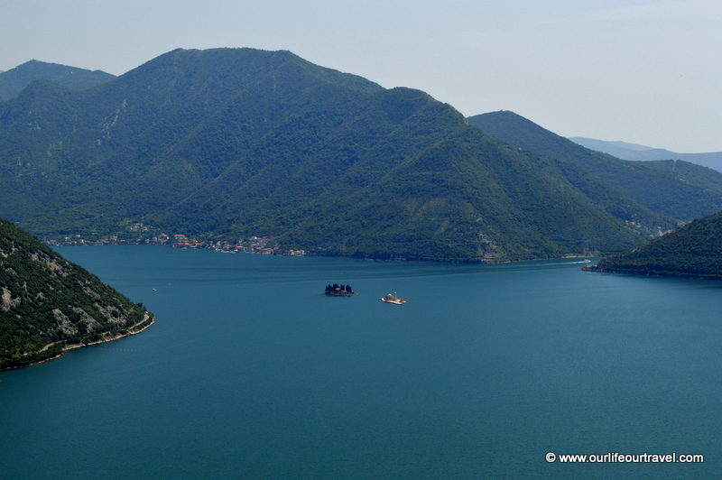 Bay of Kotor from the top