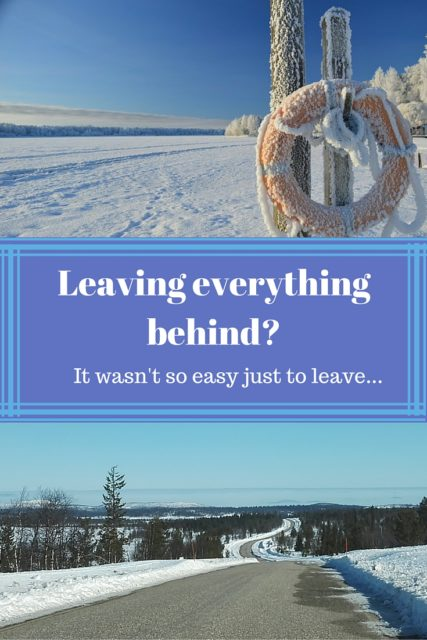 Leaving everything behind- (2)