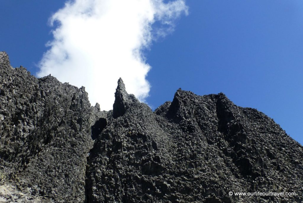 Hiking guide to the volcanic black tusk vancouver our life our black tusk tower from the bottom sciox Choice Image