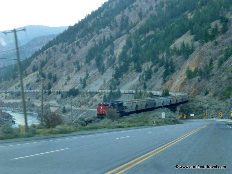 Train in a Fraser Valley